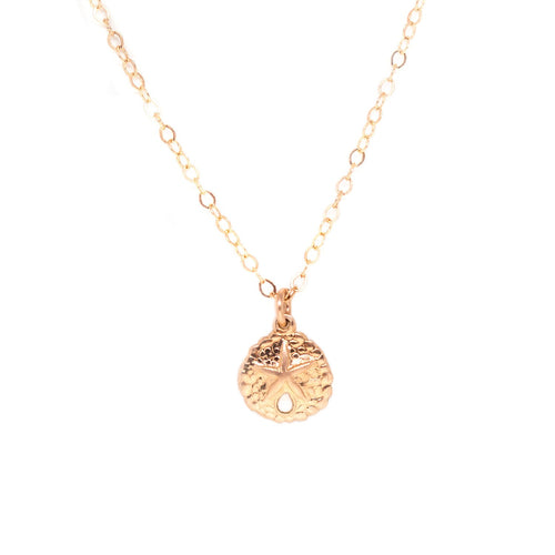 rose gold sand dollar necklace