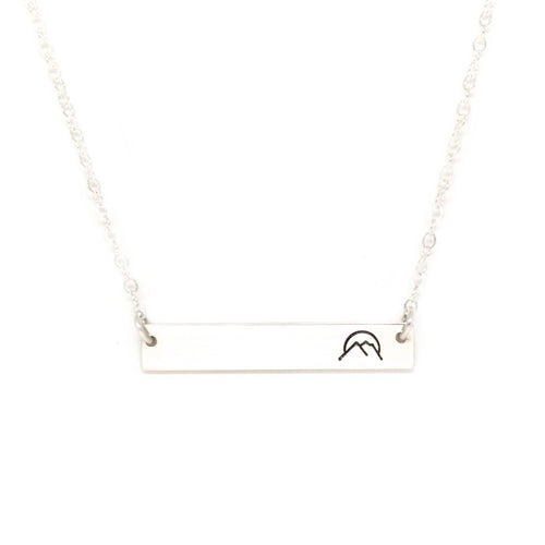 silver nameplate necklace