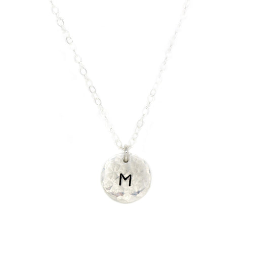 small silver disc necklace