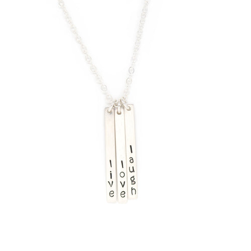 Skinny Multi Bar Necklace - Silver