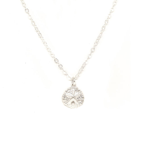 Sand Dollar Necklace - Silver