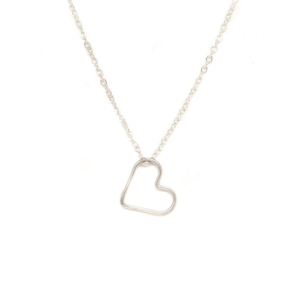 Silver Floating Heart Necklace