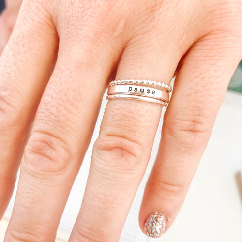 Mixed Silver Stacking Ring Set