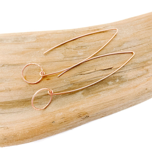 Rose Gold Circle Flow Earrings