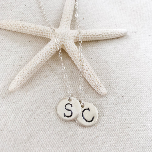 S & C Small Silver Disc Necklace