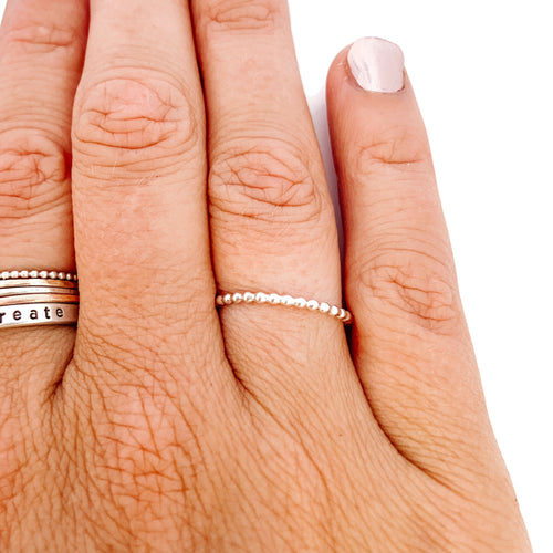 Silver Stacker Bead Ring