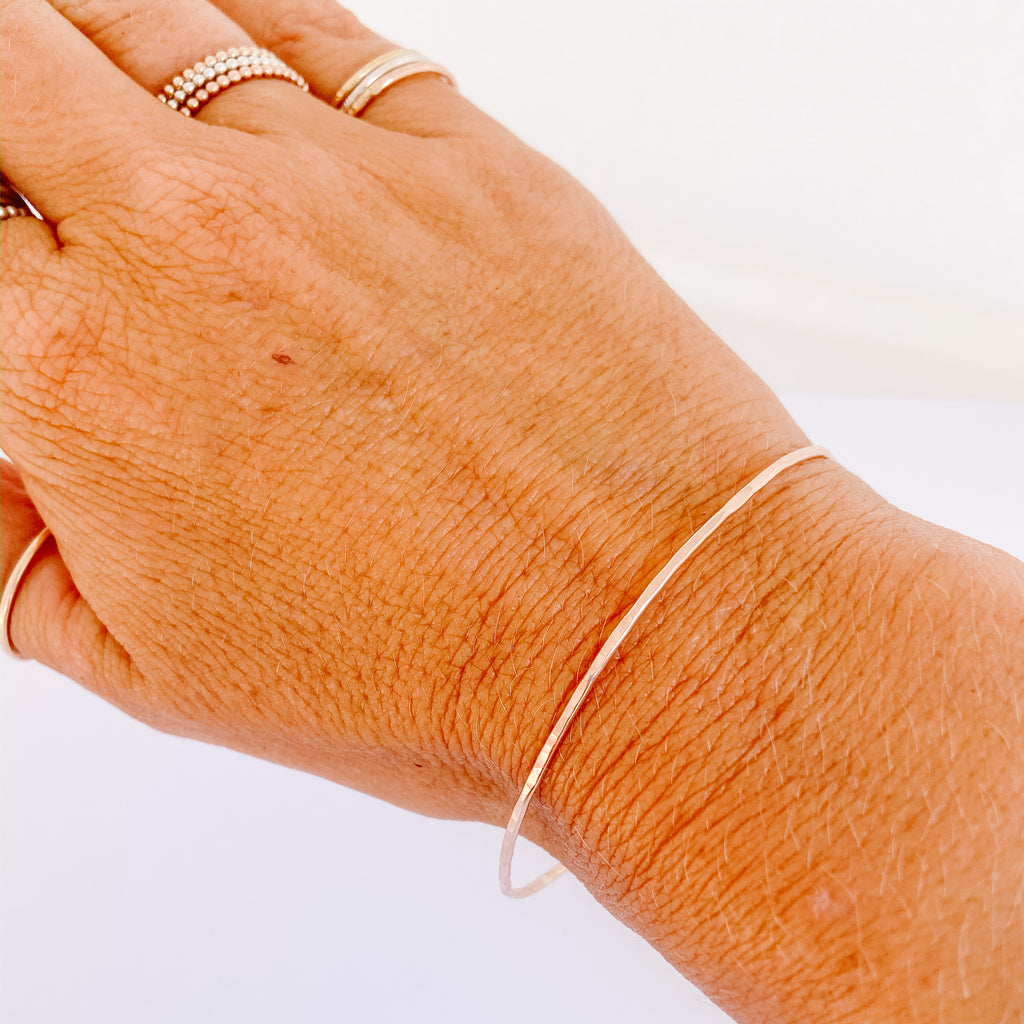 Skinny Rose Gold Bangle