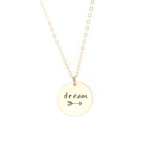 Large Disc Necklace - Gold
