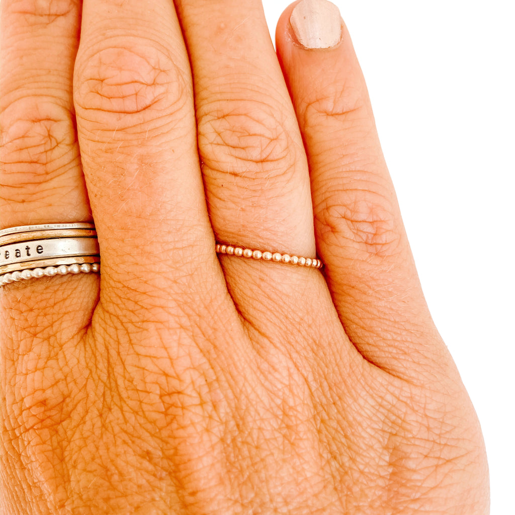 Rose Gold Stacker Bead Ring