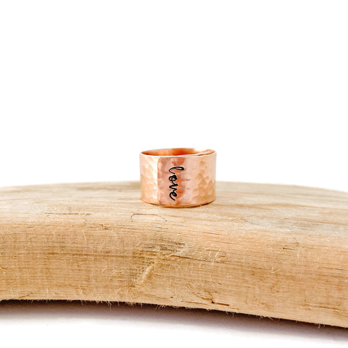 Rose Gold Hammered Wrap Ring