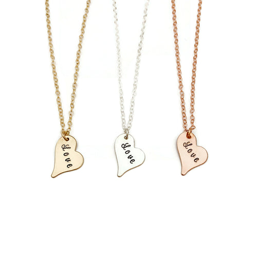 """Love"" Wild Heart Necklace"
