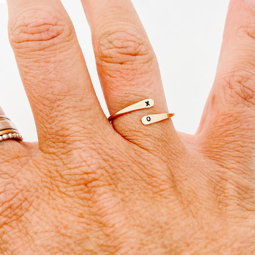 Skinny Gold Wrap Ring