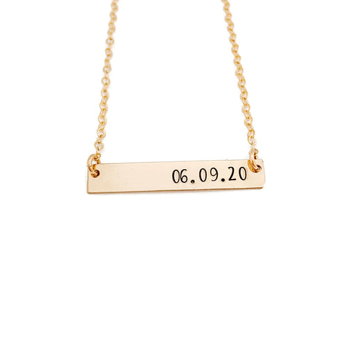 Date Nameplate Necklace