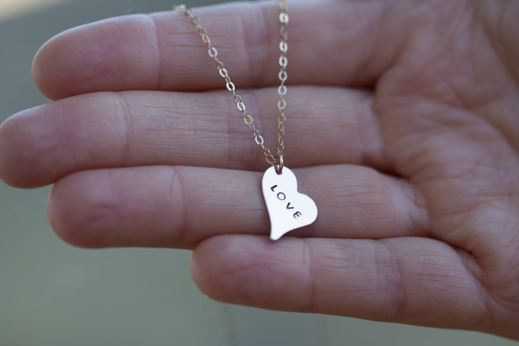 Wild Heart Necklace - Gold Stamped