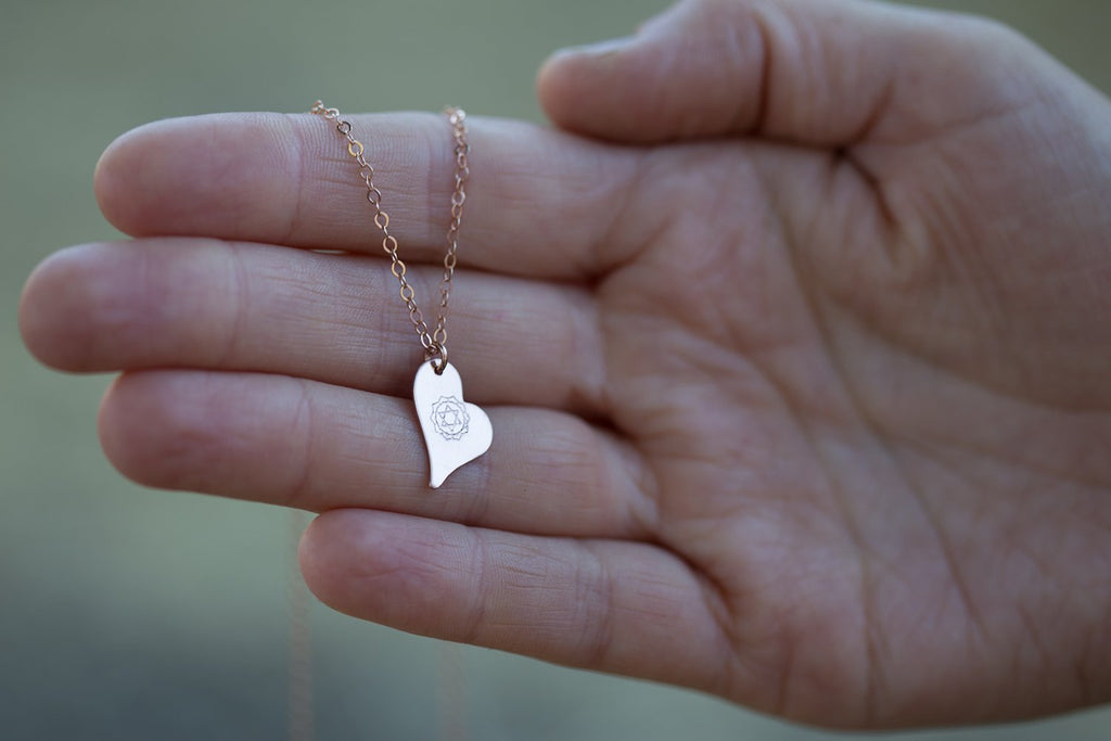 Wild Heart Necklace - Rose Gold Stamped