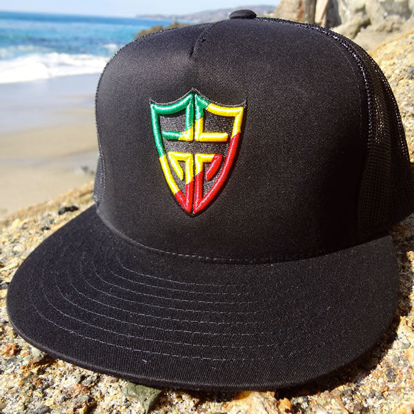 Gooch - Black Rasta Shield Trucker