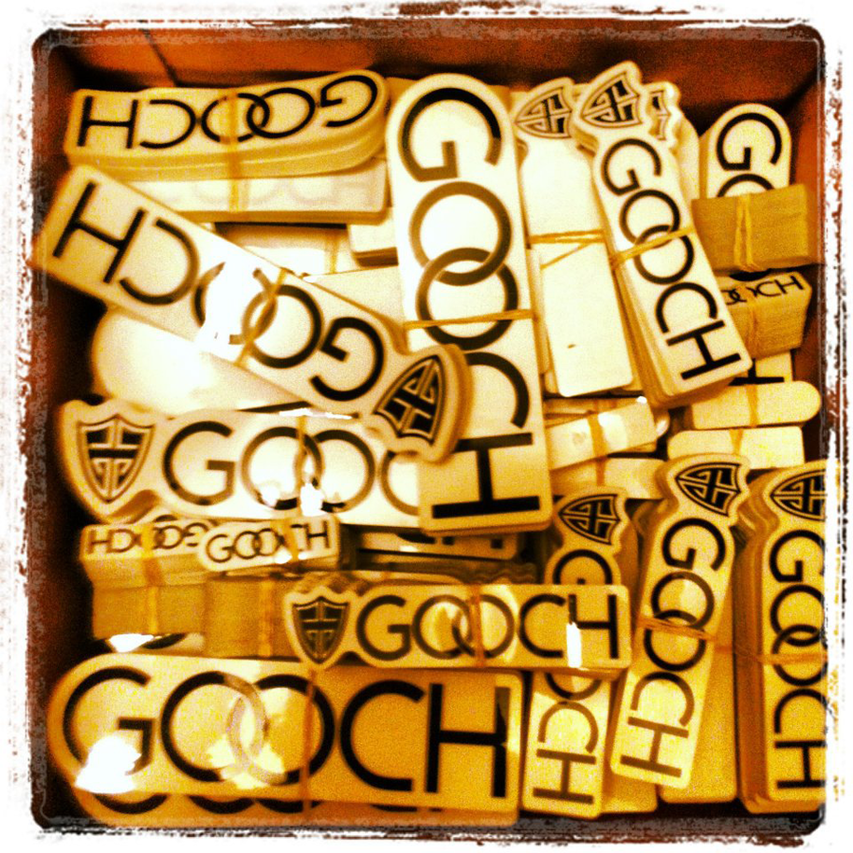 10 Pack of Gooch Stickers