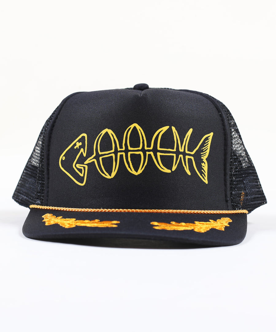 Bonez Scrambled Eggs Foamie Trucker - Black