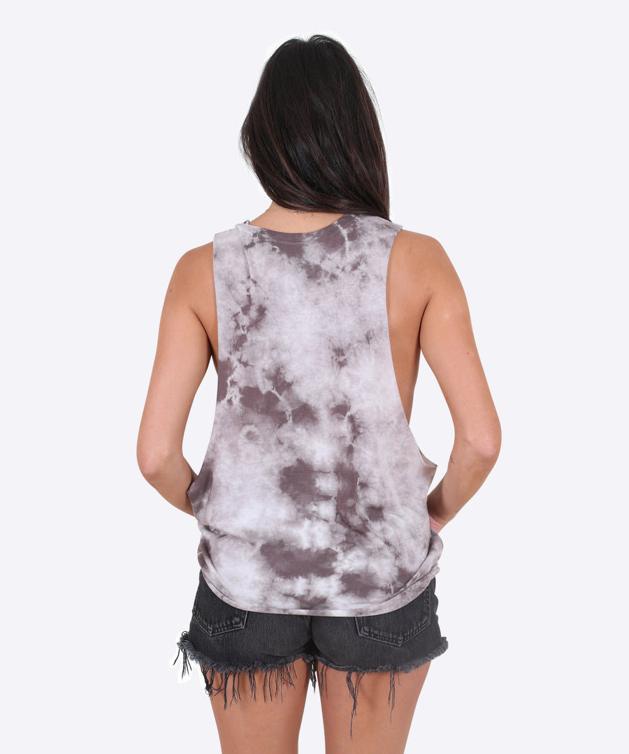 Collider Tank Womens - Light Tie Die