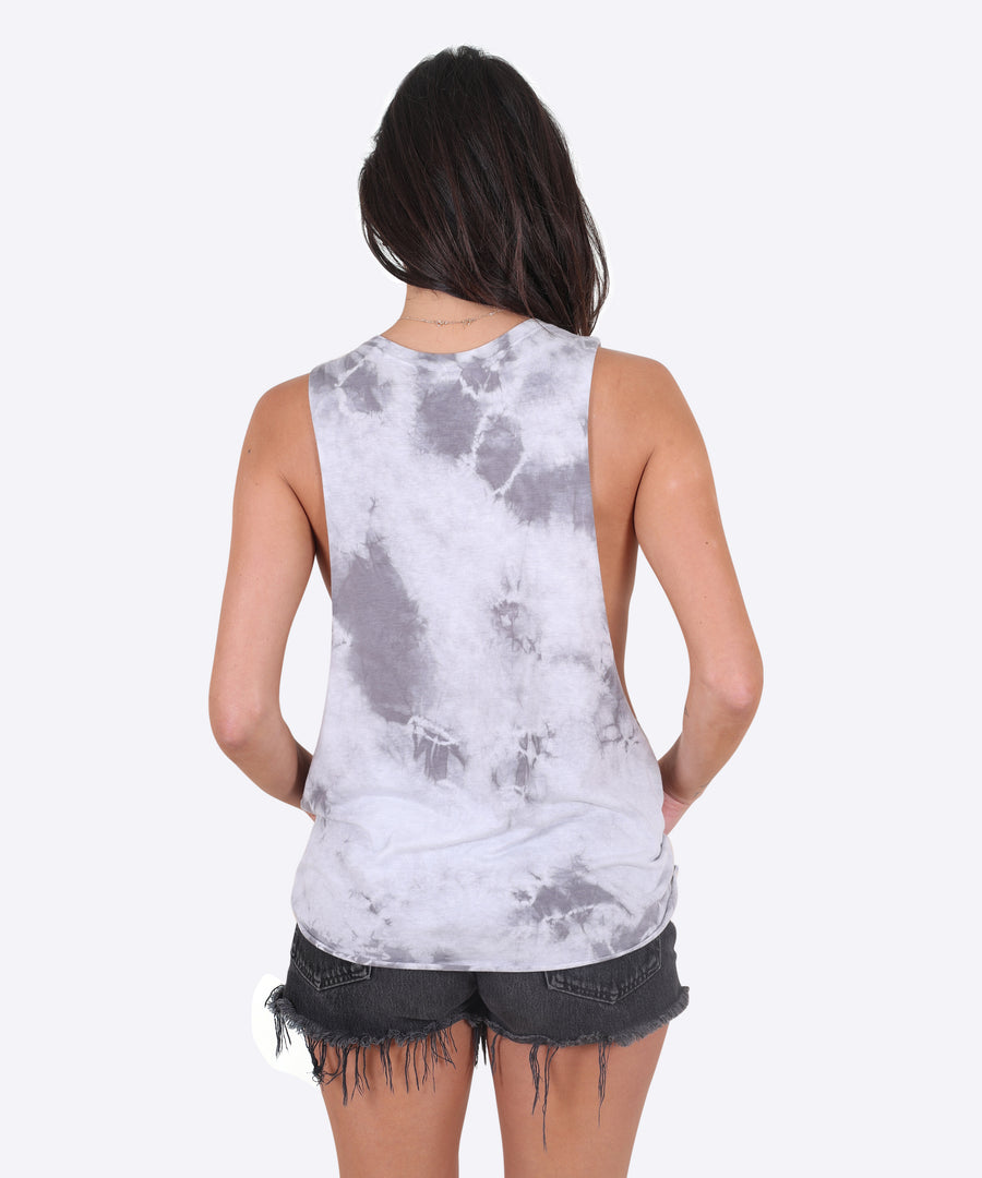 Collider Tank Womens - Dark Tie Die