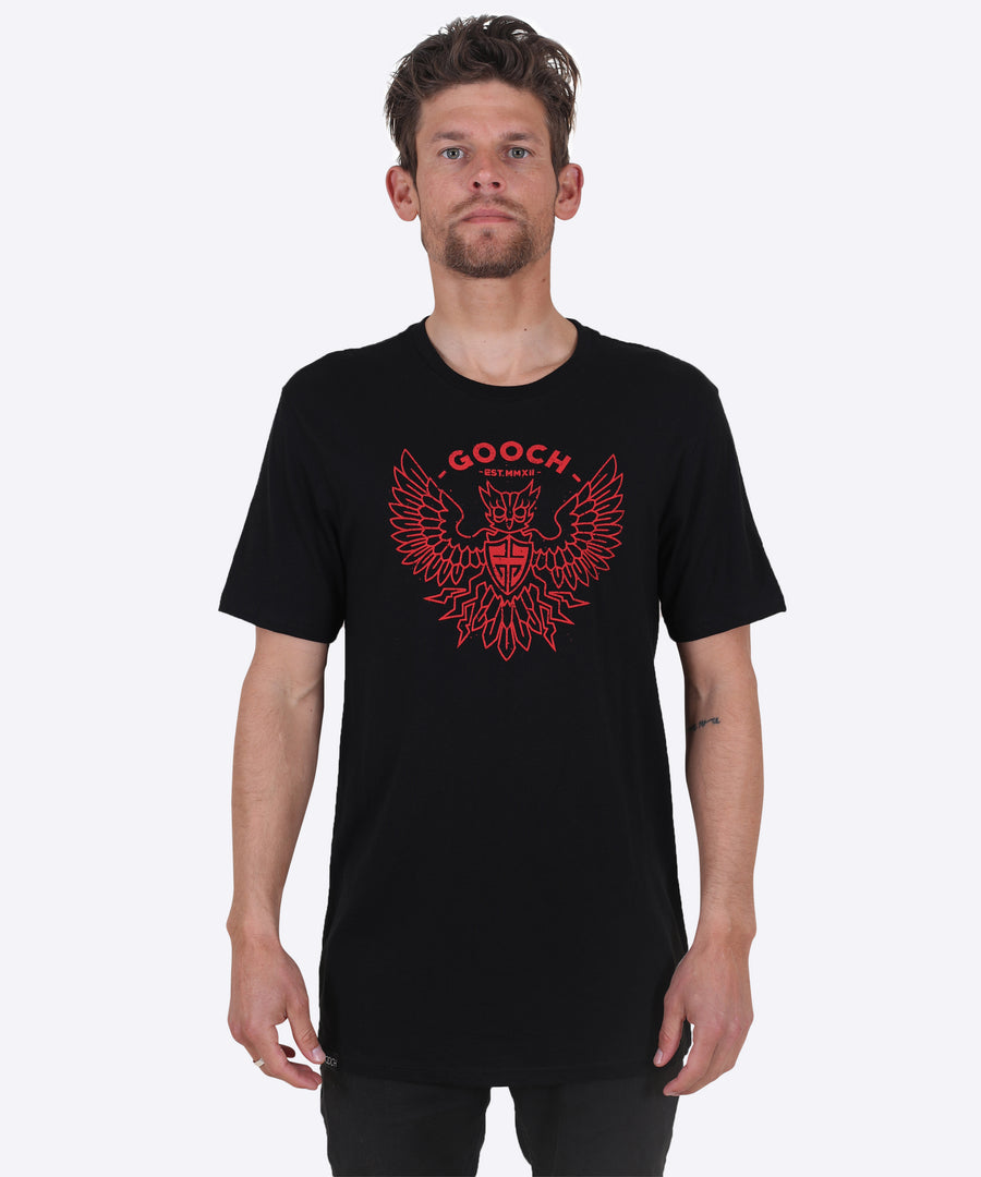 Dirtybird Tee-  Black/Red