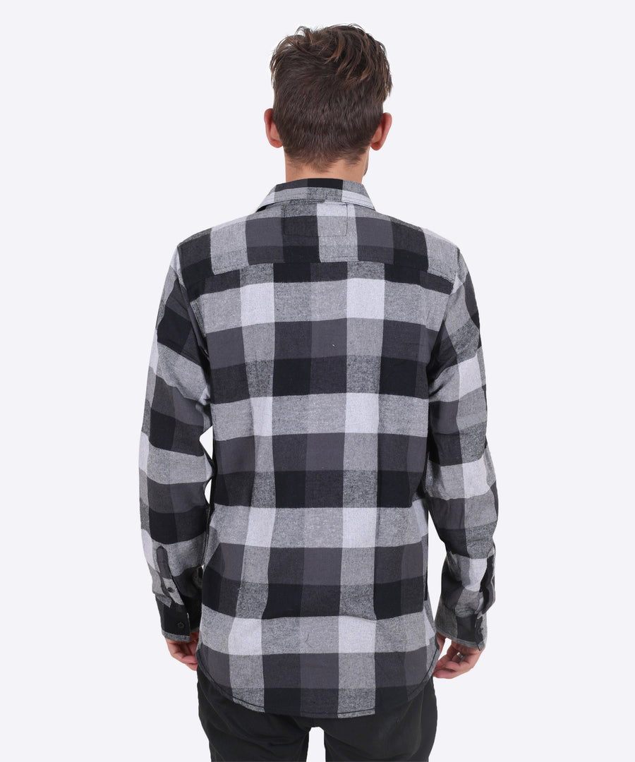 Fire Road Flannel - Black and Gray