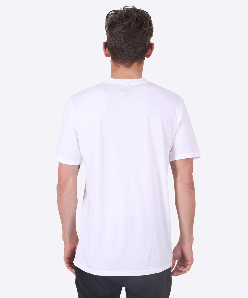 V-SHIELD TEE - WHITE (V-NECK)