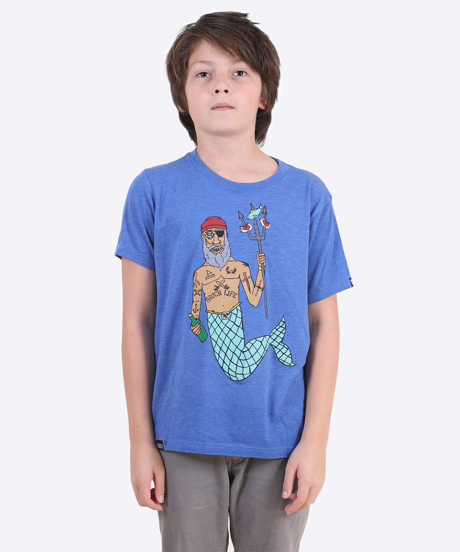 Merman Youth Tee - Royal Blue