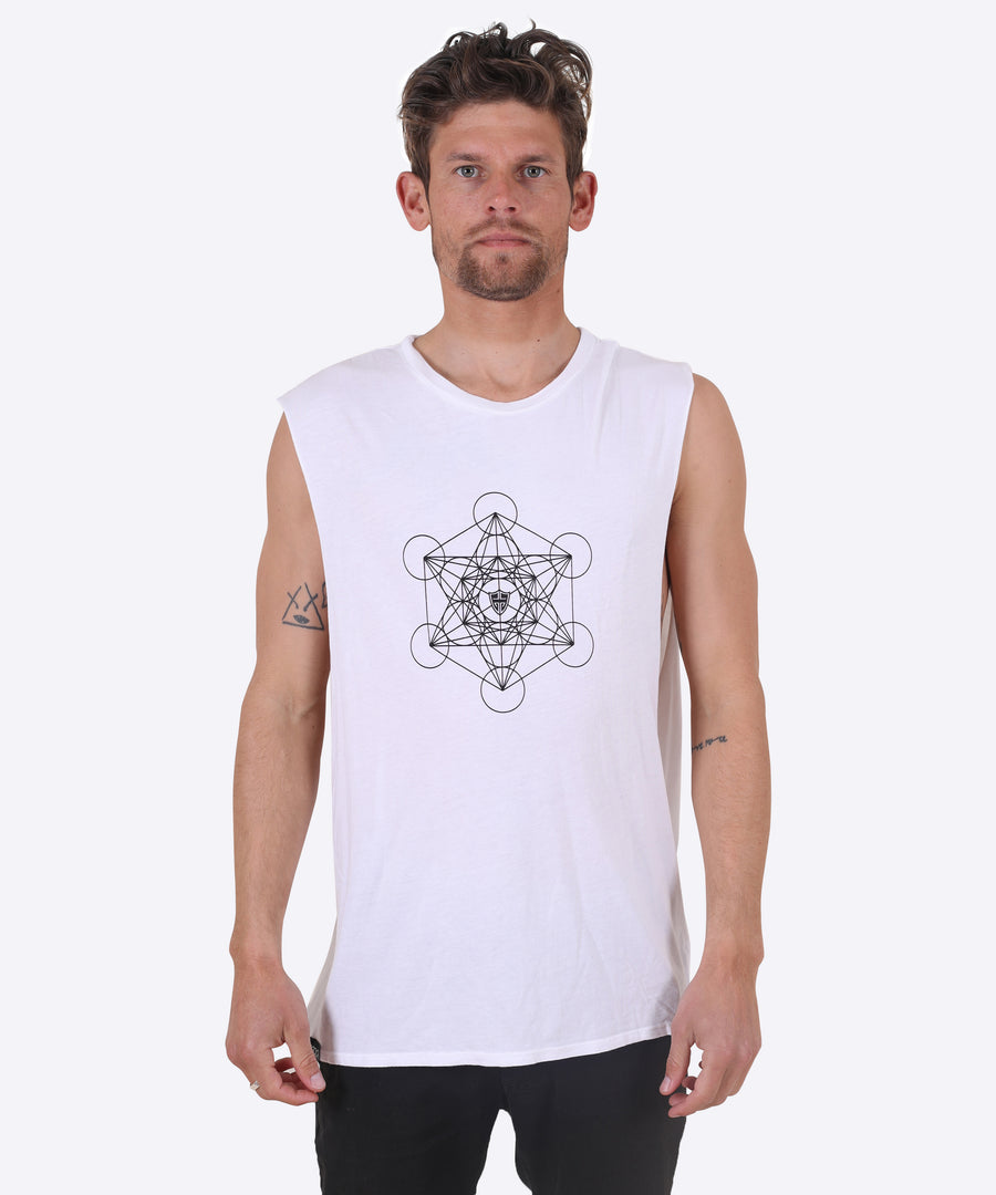 METATRON - WHITE (MUSCLE TEE)
