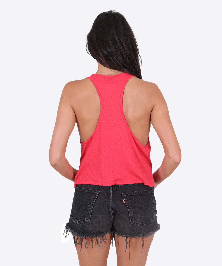 Rings Tank Womens - Coral