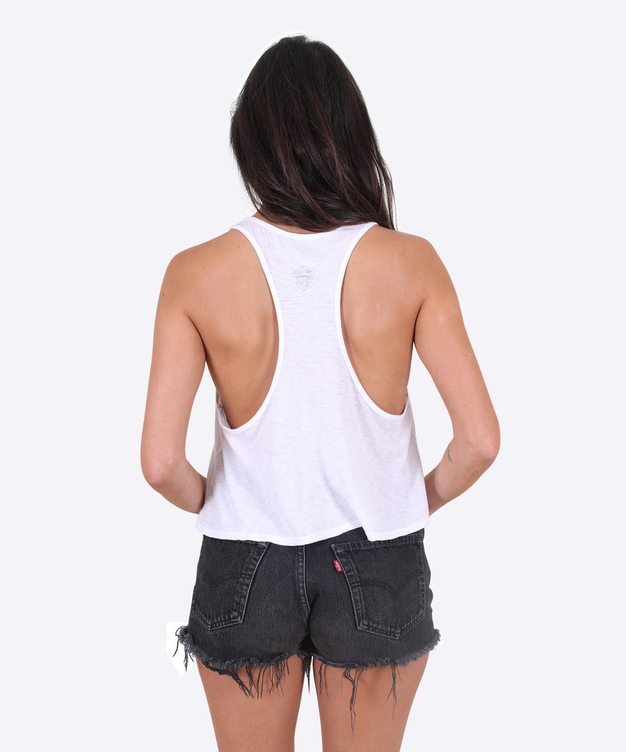 Rings Tank Womens - White