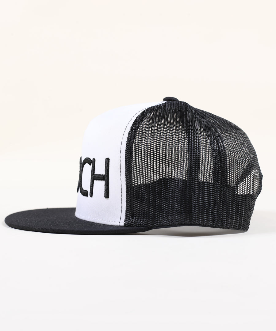 Rings Canvas Trucker Hat - Two Tone White Black