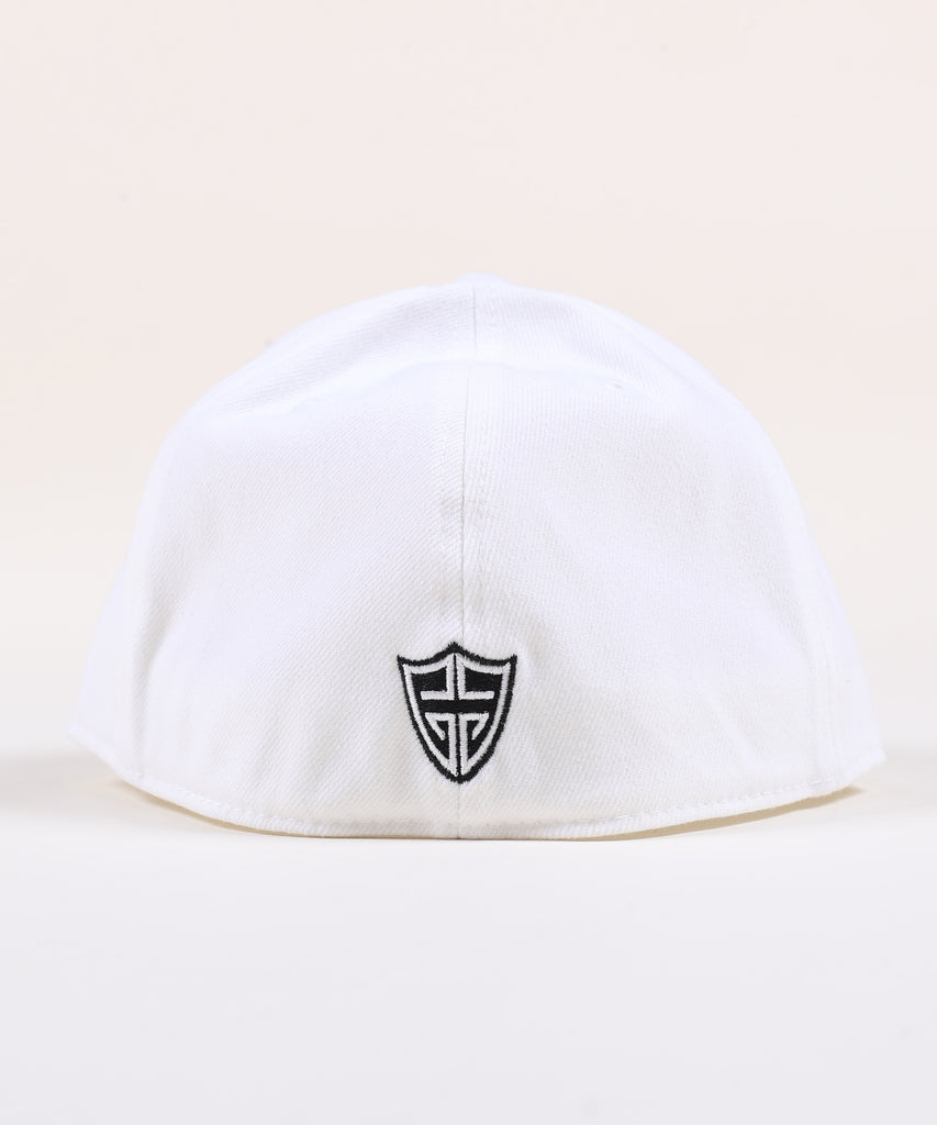 Rings Fitted Hat - White with Black