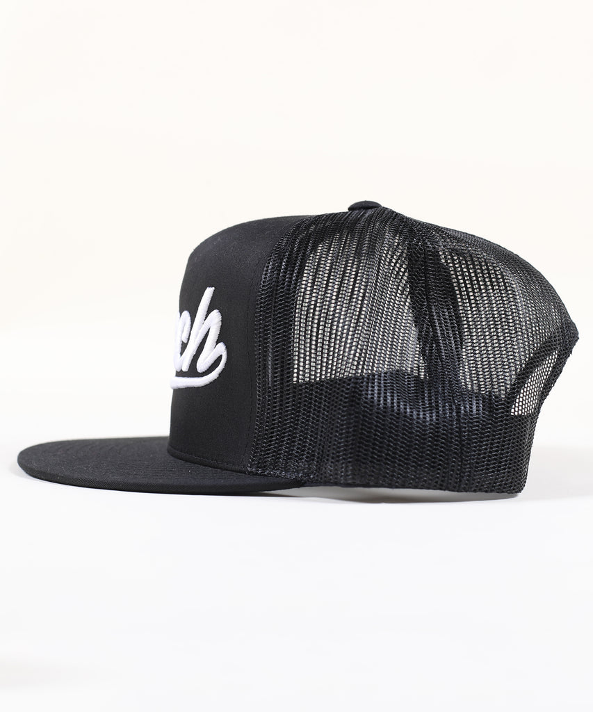 ROCKY Canvas TRUCKER Woven - BLACK/ WHITE