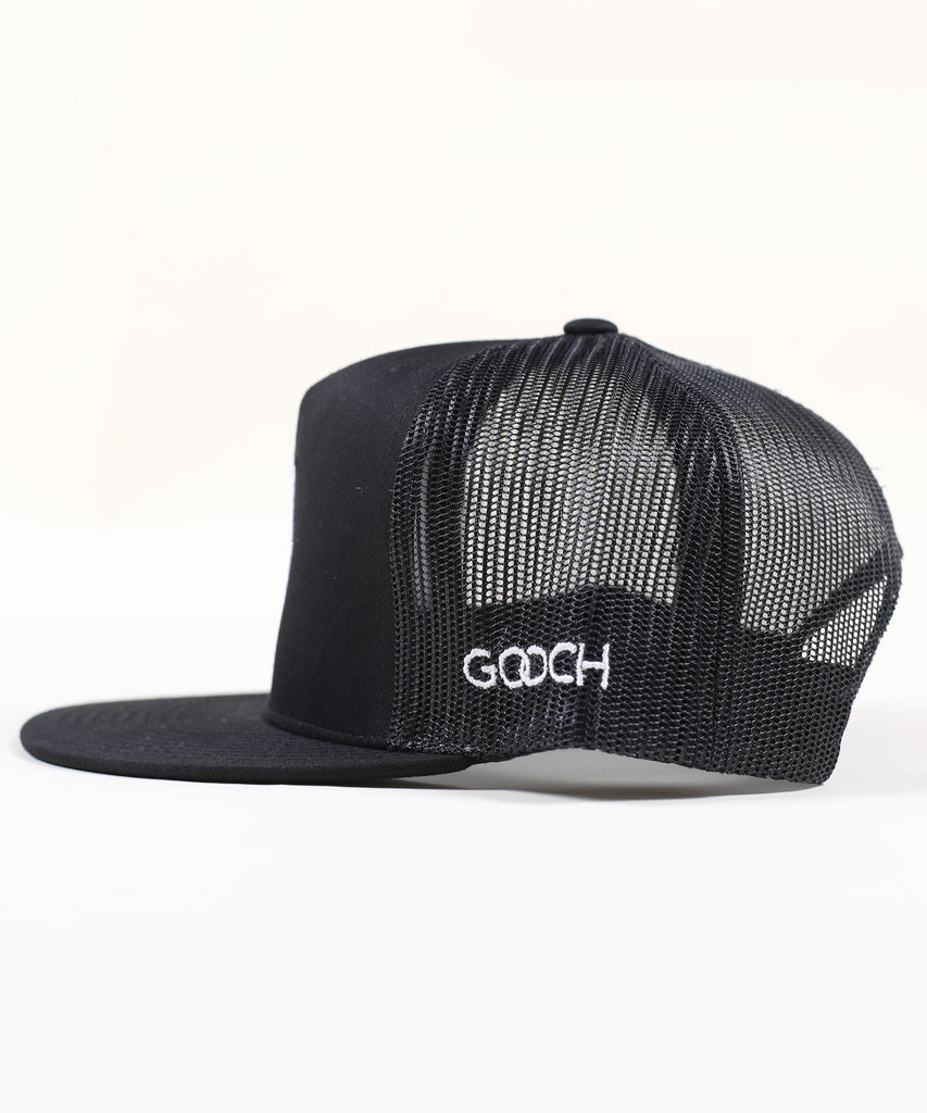 Shield Canvas Trucker Woven - Black with White