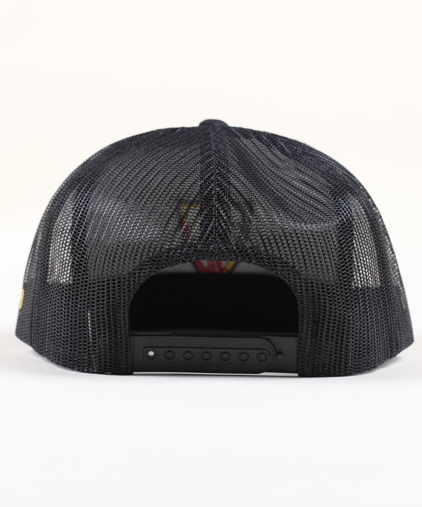 Shield Canvas Trucker - Black Rasta