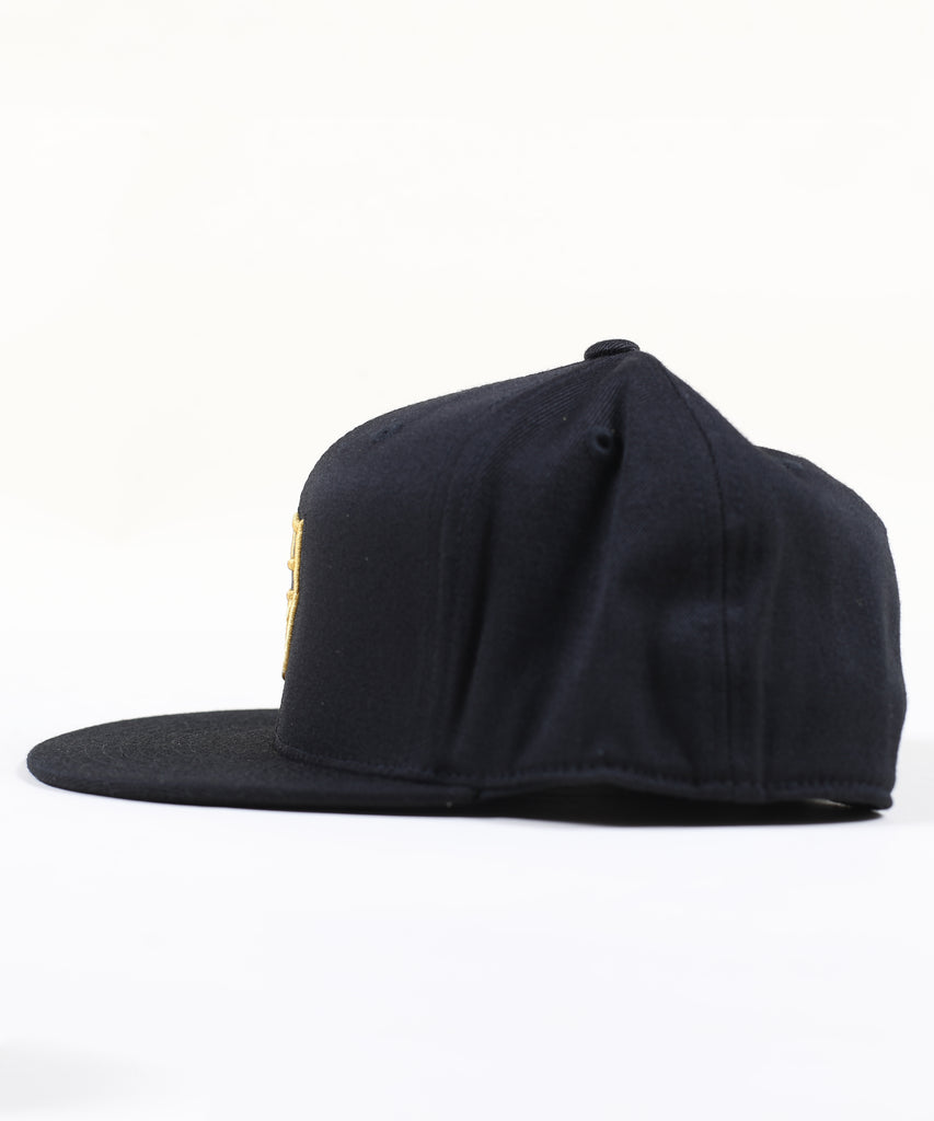 Shield Fitted Hat - Gold
