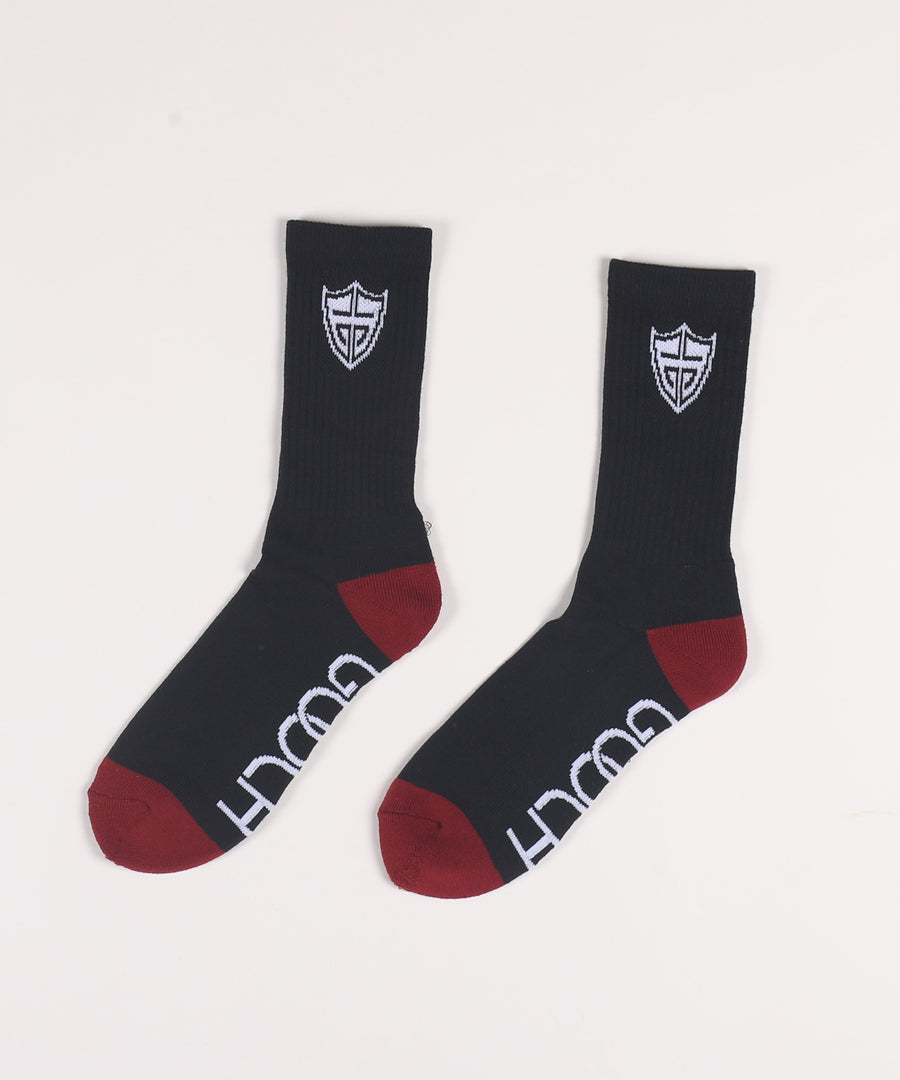 Ace Sock Black M 6-12 (3 Pair)