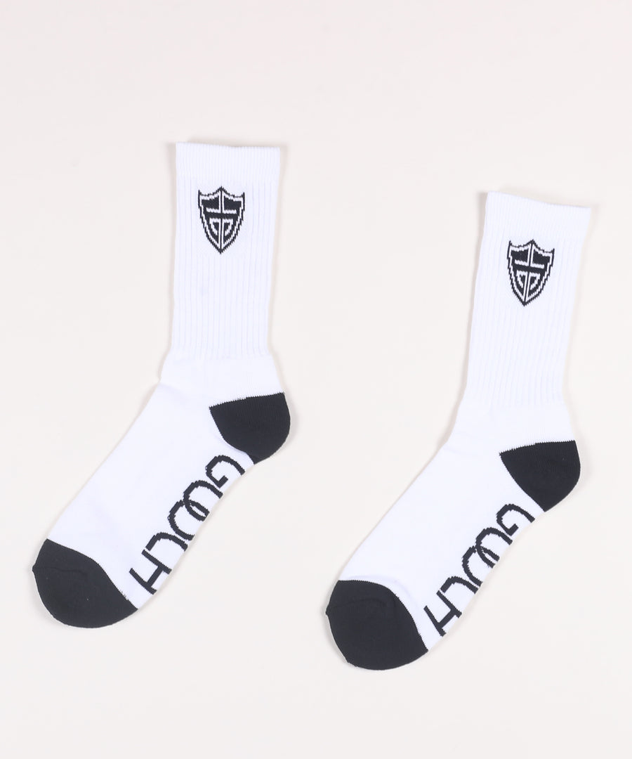 Ace Sock White M 6-12 (3 Pair)