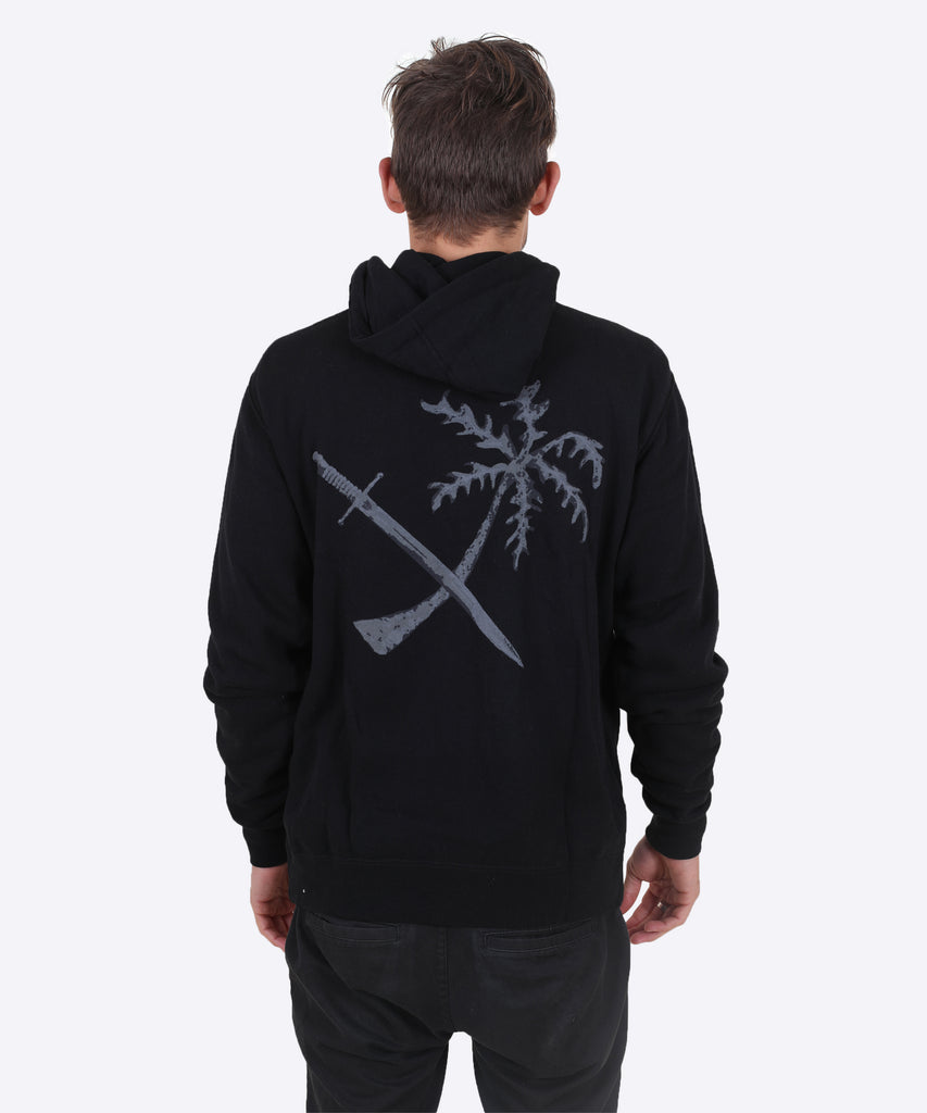 Treasure Island Zip Hoodie - Black