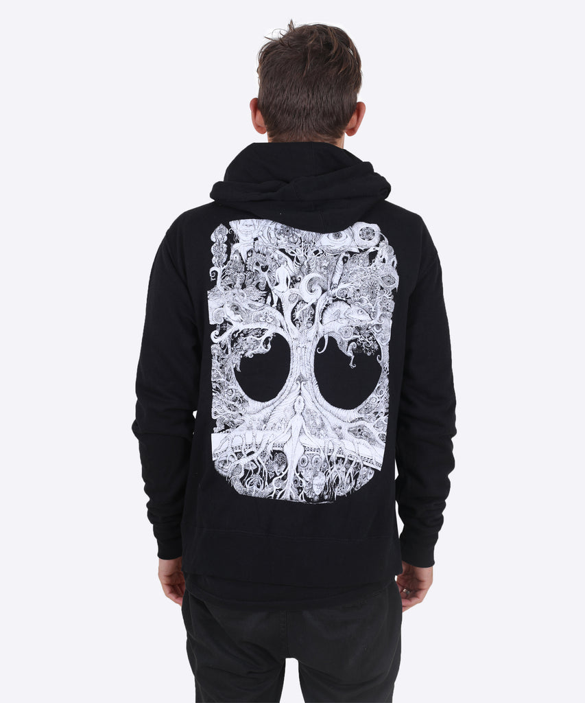 Tree Of Life zip hoodie - black