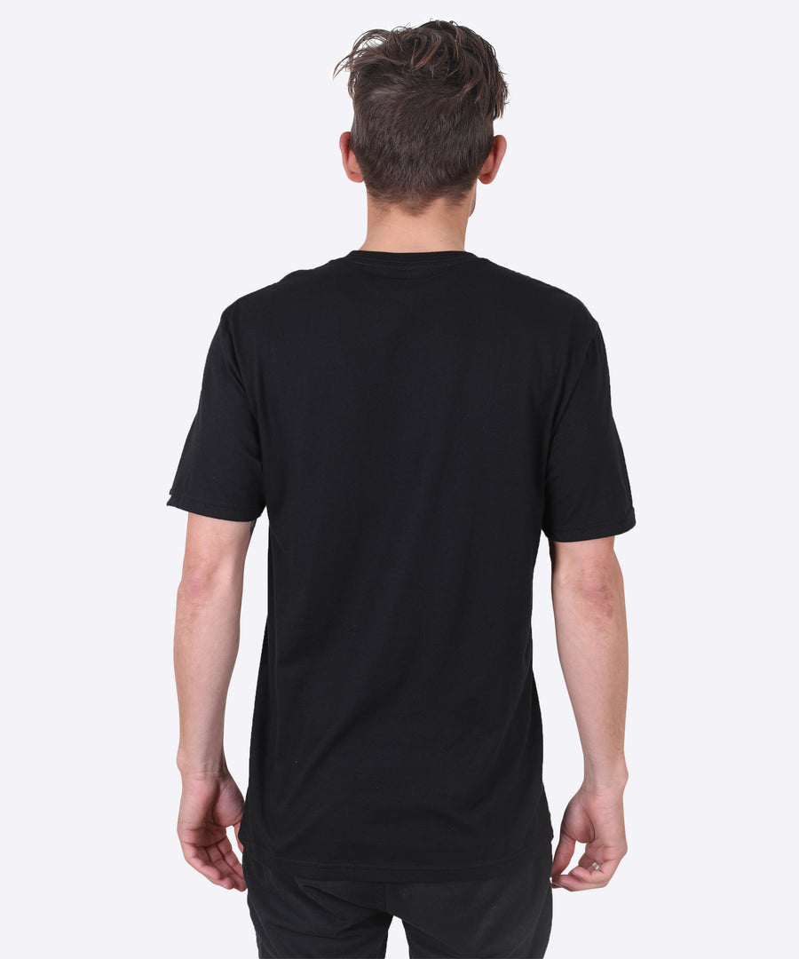 WOMP TEE - BLACK (POCKET TEE)