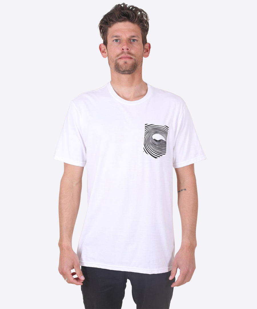 WOMP TEE - WHITE (POCKET TEE)