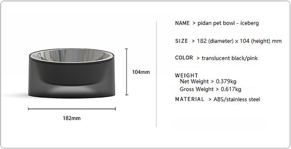 Pet bowl - iceberg product details