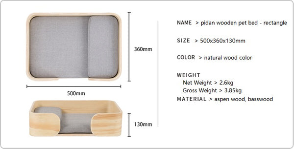 Wooden pet bed product info