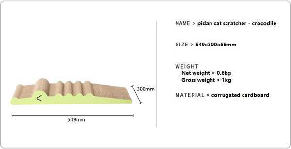Cat scratcher - crocodile product info