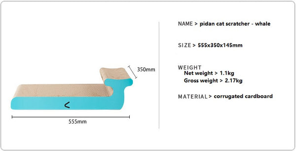 Cat scratcher - whale product info