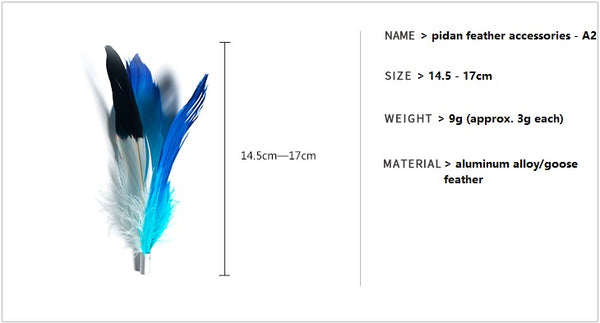 Cat teaser feather accessories - A2 product info