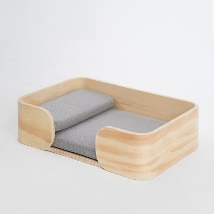 pidan Wooden Pet Rectangular Bed