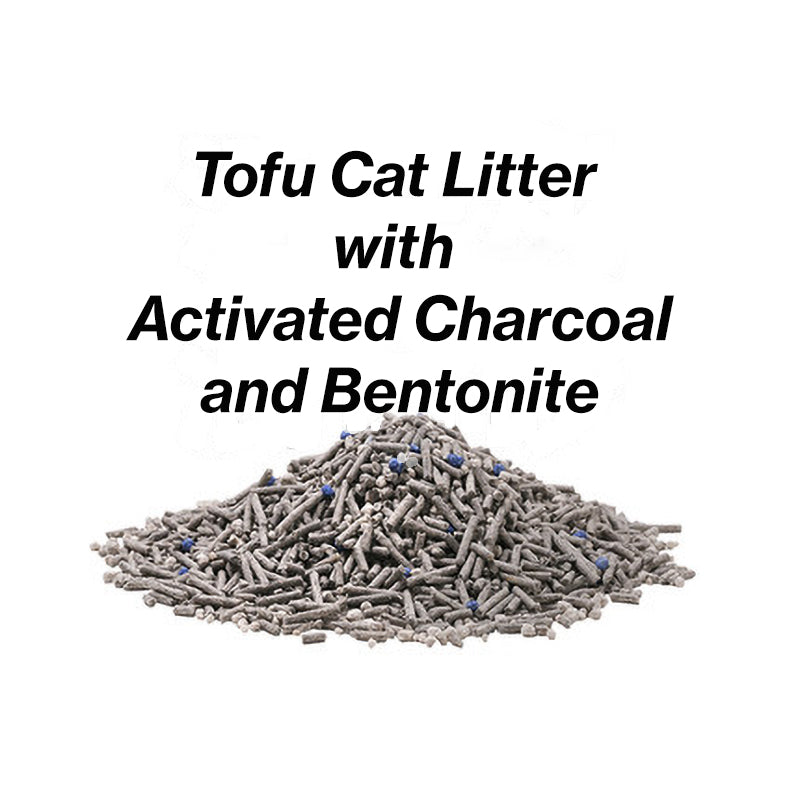 pidan Activated Charcoal Composite Cat Litter: Activated Charcoal Tofu + Bentonite
